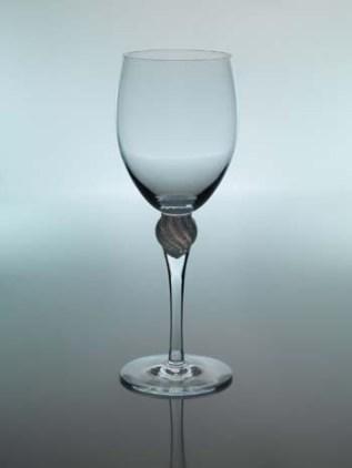 Akantus – Rødvinsglasshvit/klar